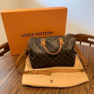 Louis Vuitton Monogram Speedy 30 Bandouliere Bag
